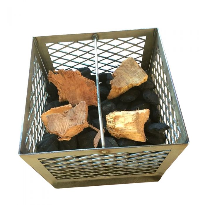 Fire Box Charcoal/Wood Basket (w/ ash pan and legs) 12x12x12 LSR
