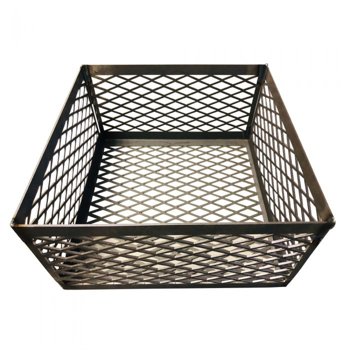 LavaLock® Fire Box Charcoal Wood Basket, 15 x 15 x 8 LASER CUT