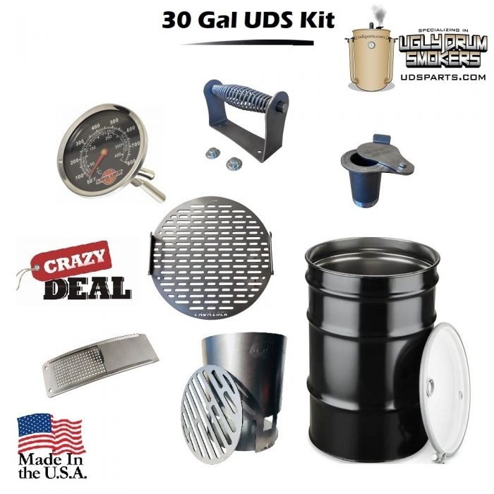 30 Gallon Drum Smoker Kit Complete with Drum - DIY