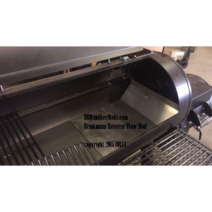 REVERSE FLOW MOD KIT Brinkmann Trailmaster Landmann Horizontal Baffle Plate & Stack Relocate
