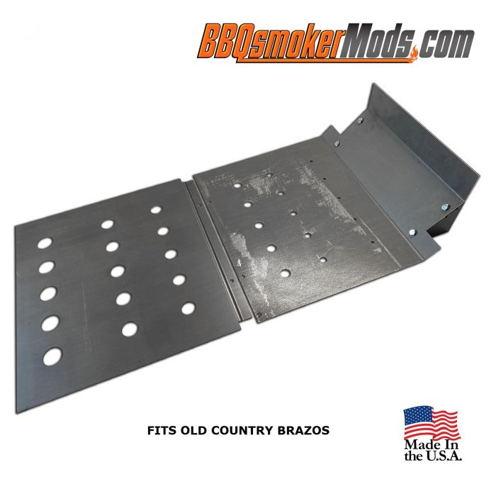 LavaLock® Old Country Brazos Baffle Plate Horizontal BBQ Smoker (Tuning System) Pre-notched