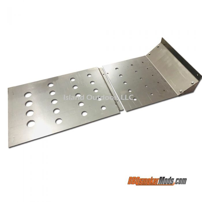 LavaLock® 37 x 14.5 Baffle Plate Horizontal BBQ Smoker (Tuning System)
