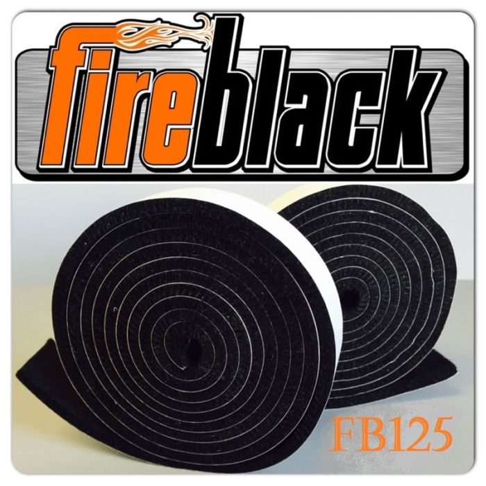 FireBlack® 125 Black Gasket Seal Material, self stick