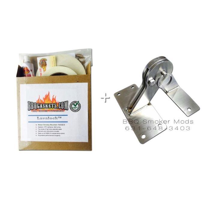 Weber Smokey Mountain Lid Hinge & Gasket Mod Kit (WSM) by LavaLock®