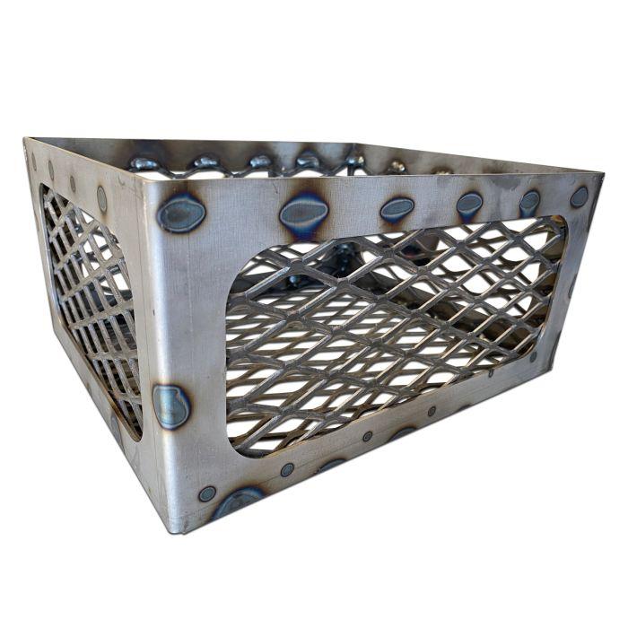 Fire Box Charcoal Wood Basket, 12 x 10 x 6