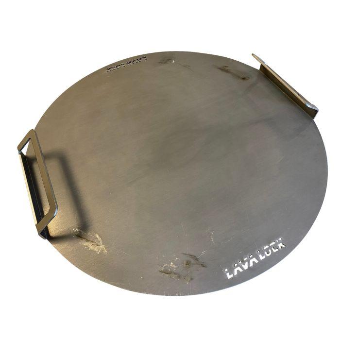 Flat Griddle Top for UDS Drum Smoker  (Flat top grill also fits Weber Kettle 22.5) - 10 gauge