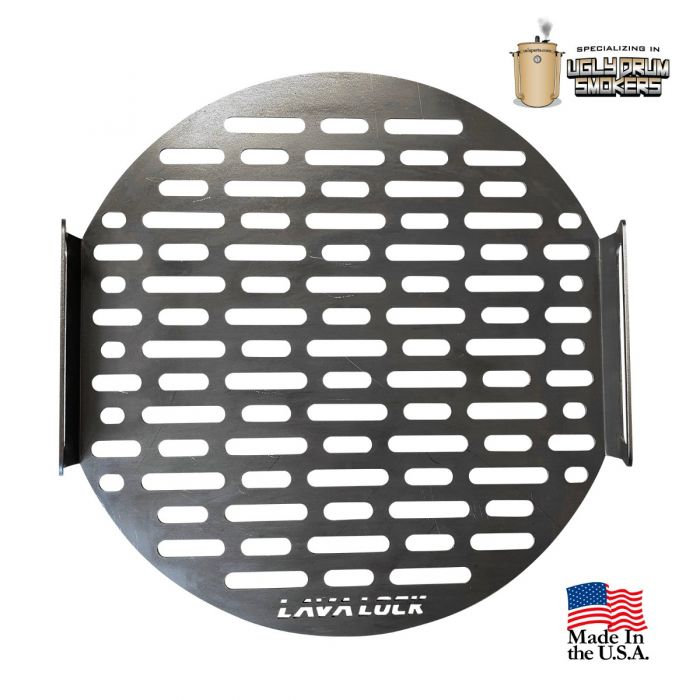 LavaLock® 16 or 30 Gallon Drum Cooking Grate, 17.5 in. for 30 gal UDS or 18.5 WSM.  13.5 in for 14.5 WSM or 16 gal drum