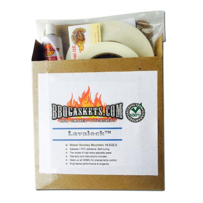Gasket Mod Kit for Weber Smokey Mountain (WSM) 14.5, 18.5, 22.5 by LavaLock®
