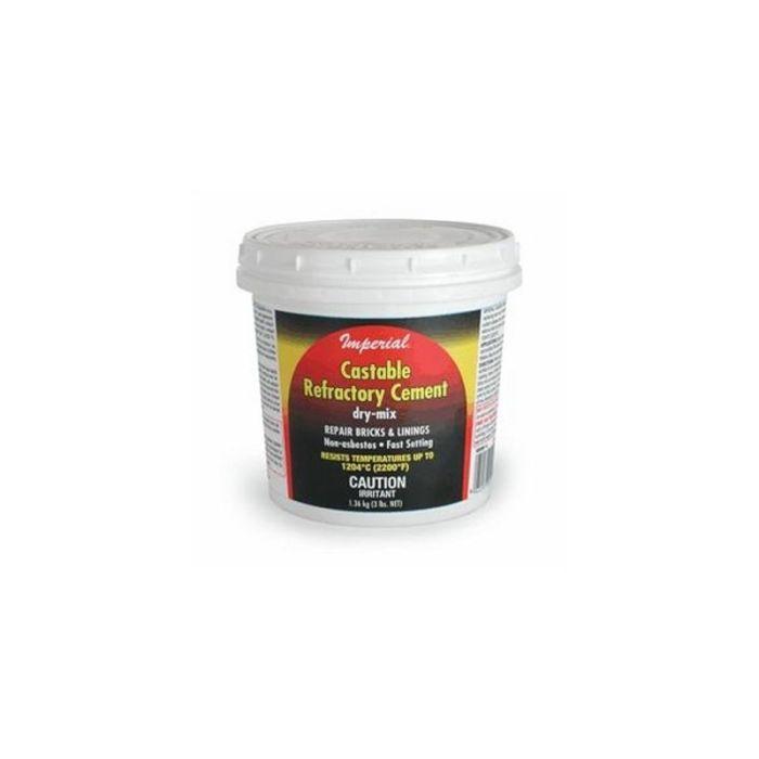 Castable Refractory Cement 3lb dry, Imperial KK0061