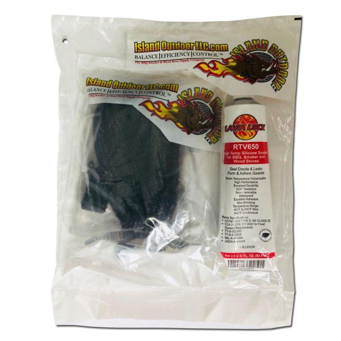 PRO PACK Firebox Gasket 1/8 x 5/8 x 7' w/ RTV adhesive by FireBlack®