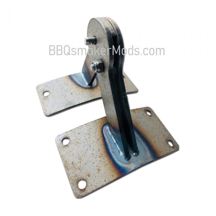 STEEL Lid Hinge for Weber Smokey Mountain - BARE STEEL - (Paint to Match)