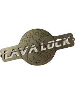 LavaLock® 6 x 3 Stainless Bolt on Logo Plate