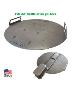 """LavaLock® Heavy Duty Flat Top Griddle Plate 22"""" for Kettle and UDS"""